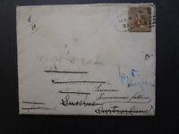 US 1892 Cover to Turkey / Switzerland Re-direct / Via London (w. Letter) - Z7048