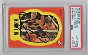 1985 Topps Rocky 4 IV Manny Pacquiao Boxing Signed Auto Card #6 PSA/DNA