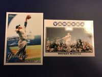 2008 #7 Topps & 2010 MICKY MANTLE New York Yankees Lot 2 LOOK!!