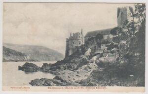 Devon postcard - Dartmouth Castle & St Petrox Church - P/U (A2028)
