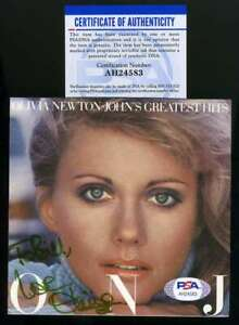 Olivia Newton John PSA DNA Coa Hand Signed Greatest Hits CD Cover Autograph