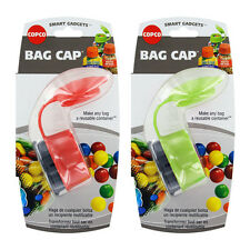 Copco Smart Gadgets Bag Cap, Assorted Colors, Small, 2/Pack