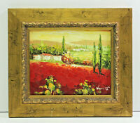 Europe Country Scene 8 x 10 Oil Painting on Canvas w/ Custom Frame