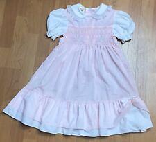 Vintage Girl's Winnie The Pooh Disney Pink Southern Belle Smocked Dress Sz 6XL