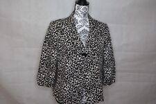 Kasper Womens Leopard Pattern 3/4 Sleeves One-Button Blazer Jacket 8
