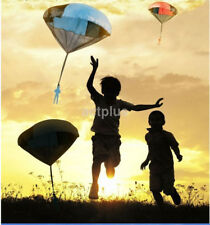 New Hand Throwing Cloth Mini Parachute Soldier Outdoor Playing Kids Children Toy