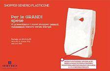 1350 Shopper pesanti riutilizzabili bianchi 60 µ plasticone resistente 14+4+4x30