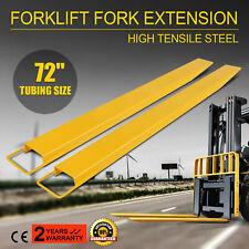 72x5.8� Forklift Pallet Fork Extensions Pair Truck Steel Construction Heavy Duty