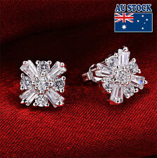 Wholesale 925 Sterling Silver Filled Stud Flower Earrings With SWAROVSKI CRYSTAL