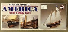 CONSTRUCTO 1/56 America 1856 Complete with Fittings Wooden Model  Kit# 80827 NEW