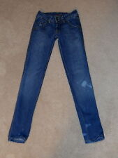 HUDSON USA DOUBLE BUTTON LOW RISE SKINNY LEG STRETCH JEANS SIZE 25