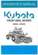 KUBOTA Ride sulla parte anteriore reel tosaerba AM3300 operatori manuale-AM 3300
