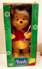 Vintage -Telco Motion-ettes Winnie the Pooh Christmas figure -Ex/Nmib