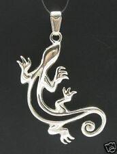 Sterling Silver Pendant Gecko Salamander Stylish Solid 925 New Handmade Empress