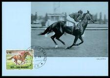 SAN MARINO MK 1966 REITEN REITSPORT PFERD PFERDE HORSE MAXIMUM CARD MC CM am32