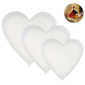 3pcs Blank Artist Board Heart Stretched Canvas Panel Framed Child Home Gifts