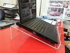 TRASPARENTI ACRILICO PERSPEX Laptop Scrivania Tavolo HOLDER MOUNT STAND ALZATA plinto