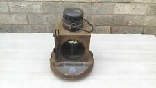 """GREAT NORTHERN RAILWAY SIGNAL LAMP plated """"GRANTHAM YARD""""  for restoration"""