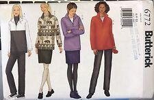 Butterick 6772 Misses'/Misses Petite Top, Skirt, Pants, Gloves sz 6, 8, 10 uncut