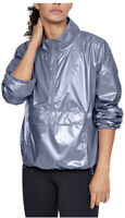 UNDER ARMOUR Women's UA Storm Metallic Woven Anorak Rain Jacket New Size XS M202