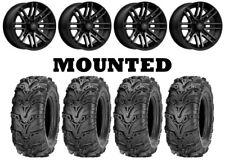 Kit 4 ITP Mud Lite II 2 Tires 28x9-14 on MSA M40 Rogue Machined Wheels 550
