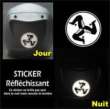 Sticker RETRO-REFLECHISSANTS Tourist Trophy TT Isle of Man - 6,5cm x 6,5cm