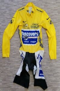 LANCE ARMSTRONG - 2005 Tour de France Race-Issued Yellow Leader's Skinsuit