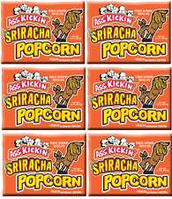 Case Lot Bulk Set Spicy Ass Kickin Sriracha Microwave Popcorn - 6 count