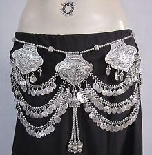 Coin Belt Boho Gypsy Festival Tribal Fusion Belly dance Costume Skirt Jewellery