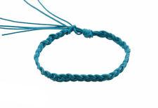 Bracelet bresilien amitie fil de coton tresse porte bonheur bleu 8152 F4
