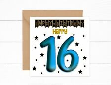 Personalised 16th Birthday Card Boys Son Friend Grandson 16 Today Nephew Brother