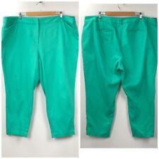 c566a07f3c6 Anuncio nuevoLiz claiborne 22W Plus Para Mujer Bata Verde Agua Emma Pantalones  De Tobillo Con Textura