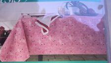 """Outdoor Oasis Flamingo Round Table Cloth 70"""" New Vinyl Indoor/ Outdoor"""