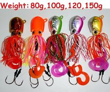 5 pcs Set Thunder Jigs Octopus Head Jigs Saltwater Lures Choose weight