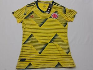 NWT Adidas Colombia World Cup Soccer Futbol Jersey 2019-20 Youth Girls Size XL