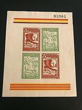 1936/37 SPAIN / COLONIES - SOUVENIR SHEET - SPANISH CIVIL WAR - IMPERF. SHEET