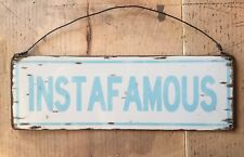 Instafamous Instagram Star Tag # Hashtag Sign Plaque Wall Hanging Home Decor