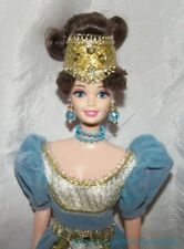 Gorgeous 1996 Barbie GREAT ERAS FRENCH LADY Doll Rooted Lashes Blue Velvet Gown