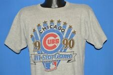 vintage 90s CHICAGO CUBS 1990 ALL STAR GAME MLB RAYON t-shirt BASEBALL LARGE L