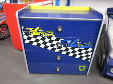KIDS CHILDRENS BOYS RACING CAR MATCHING TALLBOY FEROCIOUS LION   [BLUE]