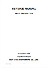 Adly TB50 TB100 Gazelle Service Manual 1998-2005 (B370)