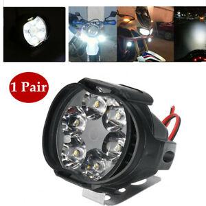 Pair 12V Auto Car Off-road Motorcycle Light LED DRL Spotlight External Lens Lamp