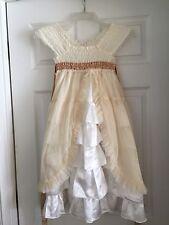 Luna Luna Copenhagen Boutique Girls Dress Size 8 Cream White Tiered Tulle Ruffle