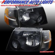 Set of OE Style Black Headlights w/ Corner Lights for 2002-2005 Explorer 4DR