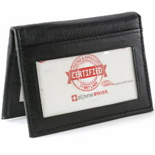 Alpine Swiss RFID Blocking Men's Leather Business Card Case Front Pocket Wallet