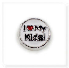 New 10pcs i love my kids Floating Charms For Living Glass Memory Lockets FC1599