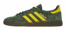 Adidas Originals Handball Spezial Khaki Green Suede & Yellow Stripes (UK 8) BNIB