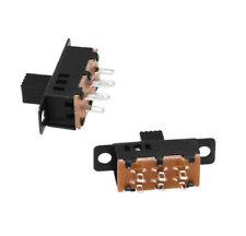 10 PCS Knob 6 Pin 3 Position DPDT Panel Slide Switch 0,5a 5 dkko A3GU