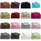 Royale Comfort Satin Striped Queen Collection Deep Pocket 4 PC Bed Sheet Sets