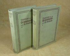 VERGLEICHENDE SLAVISCHE GRAMMATIK  von DR WENZEL VONDRAK 1 & 2 - GÖTTINGEN 1908
